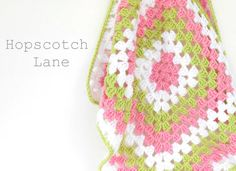 Pink and Green Crochet Baby Blanket