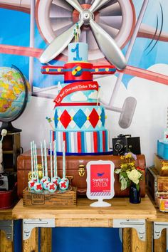 Travel + Airplane themed party