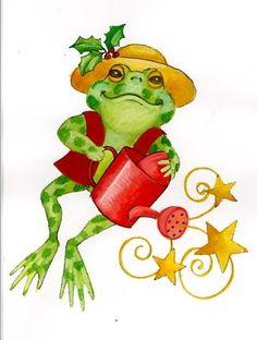 Leap Cute Frog E  ~Stephanie Stouffer.