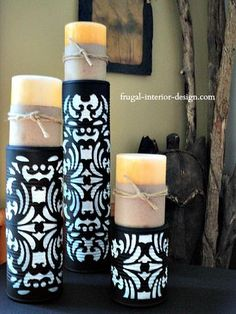 Upcycled tin cans are creative ways to recycle.  Turn your soup cans into unique candle pedestals with these upcycle ideas.