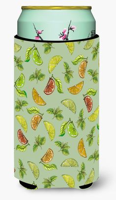 Lemons, Limes and Oranges Tall Boy Beverage Insulator Hugger BB5206TBC