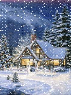 animated christmas and winter snow | Animated Christmas Screensavers 240x320