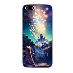 Patrón Disney Tangled cubierta de plástico duro caso para iPhone 4/4S – USD $ 3.99