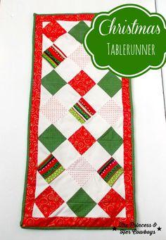 Christmas Table Runner l The Princess & Her Cowboys #tablerunner #christmas #decor
