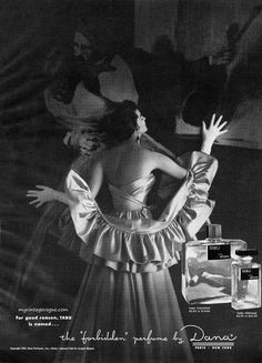 Tabu by Dana, perfume advertisement, 1953.