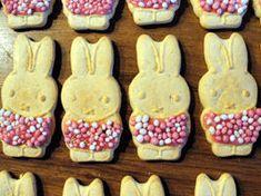 muisjes  Glazuur (wit of roze framboos van Baukje)  Pak Nijntje Dreumesbeschuit (v.a. 12 maanden) van Bolletje  (Hier zitten 10 zakjes met 2 koekjes in, dus in totaal kun je er 20 koekjes uithalen.