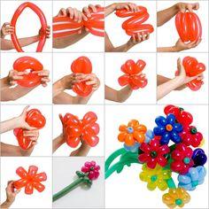 DIY Beautiful Balloon Daisy Flowers | GoodHomeDIY.com Follow Us on Facebook --> https://www.facebook.com/pages/Good-Home-DIY/438658622943462?ref=hl