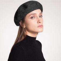 LUNA & TERRA - Cashmere Wool Fall Winter Warm Knit Italian Style Beret for Women