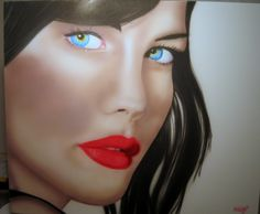 Liv tyler airbrushed on a canvas, year 2012 for sale 250$