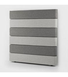 Drew Headboard King - Grey & Taupe