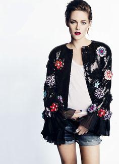 Kristen Stewart for Marie Claire US August 2015 - CHANEL Resort 2016 jacket