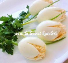 Tulipanes de huevos rellenos                        FUENTE                   FUENTE ...