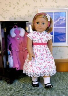 SALE  Pink for Christmas.  American girl 18 by Calyxadollcreations