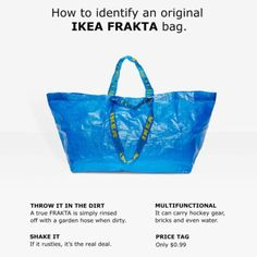 IKEA gets revenge when blue bag design is stolen The home design store has a little fun after its 99 cent bag is remade by Balenciaga with a $2,145 price tag. 'We are deeply flattered' »