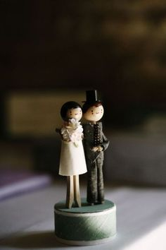 Wooden Figure Cake Topper