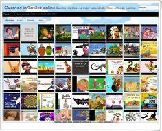 """Cuentos infantiles online"" es un blog que contiene multitud de cuentos infantiles animados audiovisuales. Educational Websites, Telling Stories, Ebooks, Photo Wall, Teaching, Activities, Digital, School, Blog"