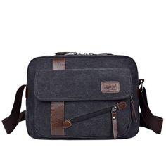 2017 new men's fashion business travel canvas shoulder bag men's Messenger bag canvas bag briefcase men's bag free shipping