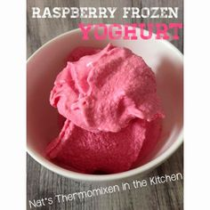 How easy is this? Freeze some yoghurt in ice cube trays, then blitz it up with your favourite frozen fruit, a dash of honey and an eggwh. Ice Cream Milkshake Recipe, Yummy Ice Cream, Milkshake Recipes, Chef Recipes, Sweets Recipes, Cooking Recipes, Frozen Yoghurt, Frozen Fruit, Raspberry Yoghurt