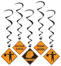 Construction Party Supplies - Construction Whirls