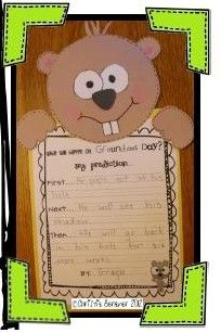 Kindergarten & First Grade Fever!: It's Groundhog Time! with a lil FREEBIE
