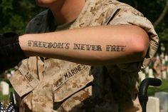 Freedoms Never Free USMC