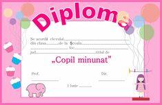 Diploma pentru 1 Iunie - Ziua Copilului Teacher Supplies, My Job, Classroom Management, Free Printables, Children, Kids, Kindergarten, Clip Art, Memories