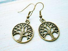Antique Bronze Tree of Life Charm Dangle by CrimsonRoseCottage, $13.50