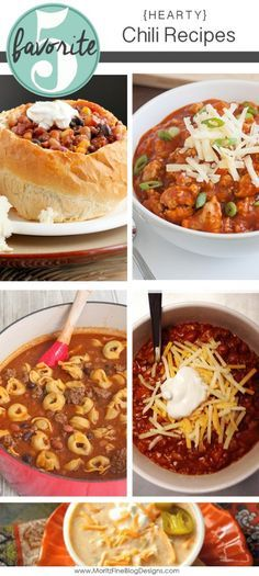 Hearty Chili Recipes to satisfy your hunger. You will be sure to find something you love with this variety of recipes.