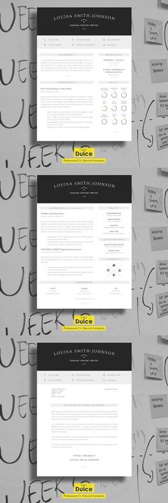 Professional Resume Template  Cover Letter PSD Resume Templates