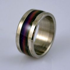 S16 Stainless Steel Mood Ring Endless Band High Quality Rainbow Colors $5.95 #bestseller