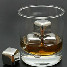 Whiskey Stones - Stainless Steel  RRP: $25.99 Deal Price $15.90 Free Delivery     These Stainless Steel Whisky Stones are ideal & creative gift Idea for whiskey lovers without diluting drinks.  Available in packs of 4, 6 or 8