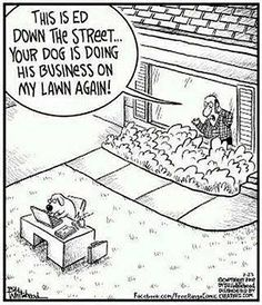 Reminds me of The Far Side comic strips. Those were so weird and hilarious.
