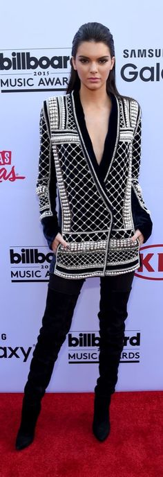 Pin for Later: See Every Stunning Look From the Billboard Music Awards Red Carpet Kendall Jenner Style, Kendall And Kylie, Kylie Jenner, H M Outfits, Fashion Outfits, Winter Outfits, Balmain Collection, Kardashian Style, Kardashian Kollection
