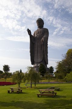 Ushiku Daibutsu, Ibaraki Prefecture, Japan - very new statue, but only about an hour out of Tokyo. Places To Travel, Places To See, Japon Tokyo, Amitabha Buddha, All About Japan, Ibaraki, Go To Japan, Buddhist Temple, Japanese Culture