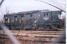 CIND 2254 (ex-NS, nee-SOU)   Description:  CIND 2254 scrapped at Kokomo, IN   Photo Date:  12/29/2003   Location:  Kokomo, IN   Author:  Ken Roble  Categories:    Locomotives:  CIND 2254(GP30)