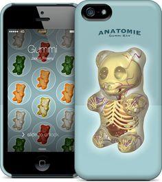 Gummi Anatomie iPhone 5S, 5 HardCase by #JasonFreeny #giftguide