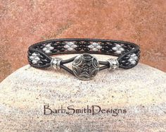 Blue Copper Leather Wrap Bracelet The Skinny by BarbSmithDesigns