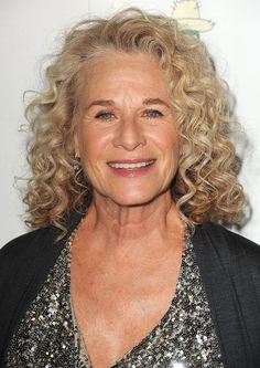 The Best Curly Hairstyles for Women Over 50: Carole King Curly Hair