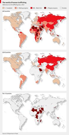 Human trafficking around the world...