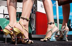 I am in love with these whimsical Prada shoes...Fifties Americana has never been more chic