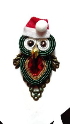 Soutache owl brooch #soutacheowl