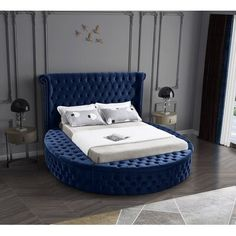 King Beds, Queen Beds, Recamaras King Size, Circle Bed, Meridian Furniture, Round Beds, Full Bed, Adjustable Beds, Bedroom Decor