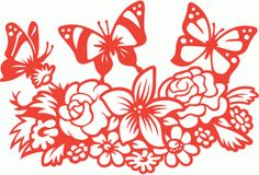 Silhouette Design Store - View Design #76741: wild butterfly meadow