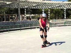 Como entrar de frente para um powerslide de costas em patins