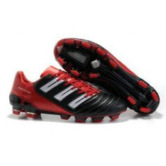 huge selection of 20ed2 cc8ea Adidas Predator TRX FG Adipower Noir Blanc Rouge Soccer Boots, Football  Shoes, Nike Soccer