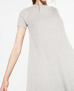 Image 2 of RIBBED MINI DRESS from Zara