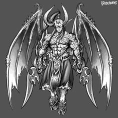 Illidan Stormrage_World of Warcraft : Burning Crusade _illust by Great-Panda