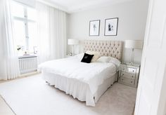 Find images and videos about bedroom and interior on We Heart It - the app to get lost in what you love. Dream Bedroom, Home Bedroom, Bedroom Decor, Master Bedrooms, Master Suite, Bedroom Ideas, Aesthetic Bedroom, White Decor, My New Room