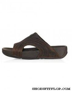 12525ca9e Mens FitFlop Freeway Sandals Dark Chocolate Sale