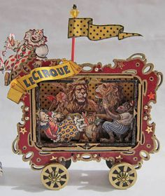 Circus Wagon Altered Altoid Tin - PAPER CRAFTS, SCRAPBOOKING & ATCs (ARTIST TRADING CARDS)